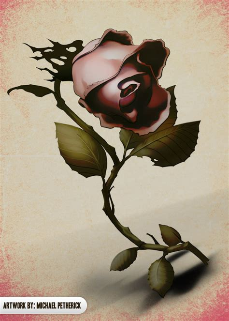 wilted rose tattoo wilting by grindlab on deviantart