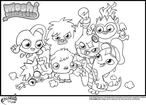 moshi monsters coloring pages poppet moshi monsters moshlings free colouring pages