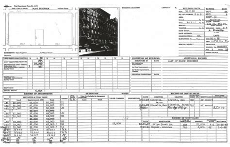 New York Property Tax Records New York City Department Of Records S Williamsburg Bk