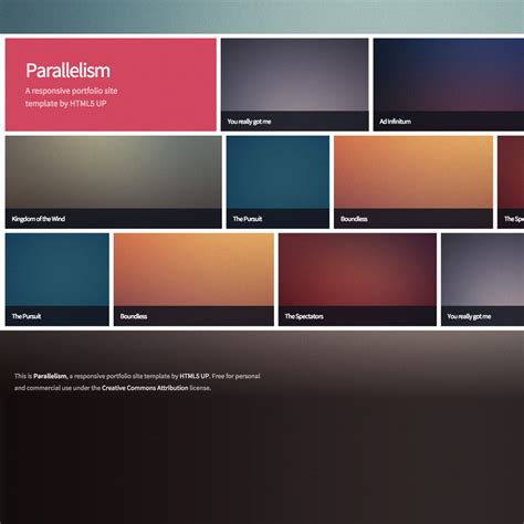 portfolio responsive template parallelism portfolio free responsive template