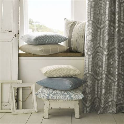 cream patterned curtains kai lamorna fabric collection striped and patterned