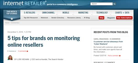 The Search Monitor 5 Tips To Help Brands Monitor Resellers The