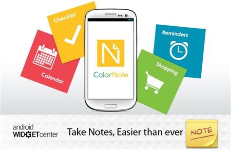 android note taking app colornote android taking note widget aw center