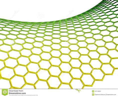 graphene molecular structure  white background stock