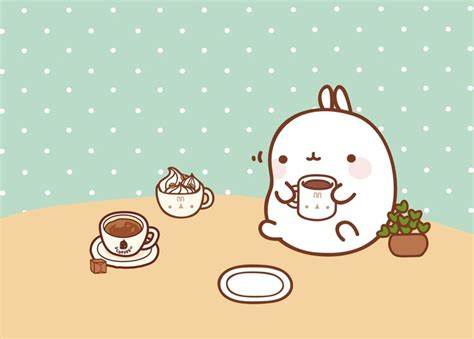 coffee wallpaper cute molang s coffee break wallpaper click thru for high res