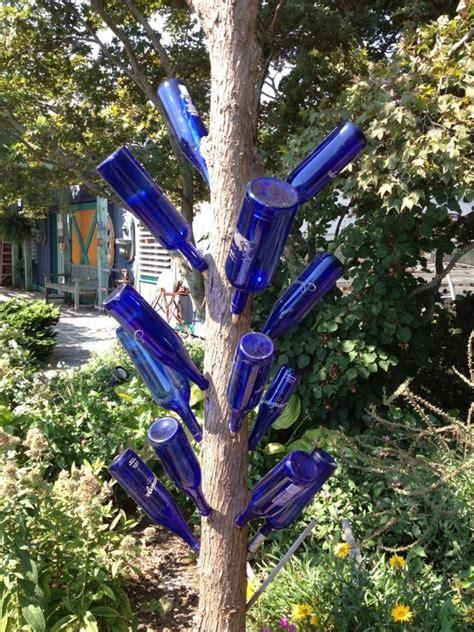 ooh a wine bottle tree garden backyard