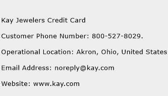 jewelers credit card customer service phone number