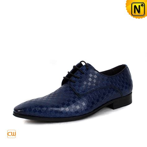 blue leather oxford dress shoes for cw762082