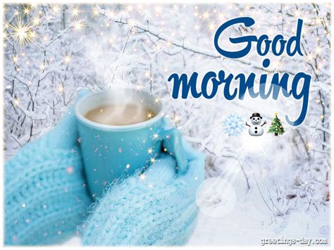 good morning winter wishes everyday  cards pictures holidays