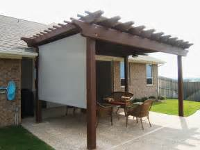 Pergola With Screen by Pergola Shade Covers Home Interior Design Planning