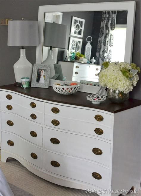 Master Bedroom Dresser Painted Dresser And Mirror Makeover Master Bedroom Furniture