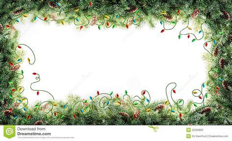 christmas tree frame stock image image of landscape