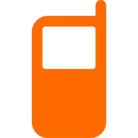 orange mobile free orange cell phone icon orange cell phone icon