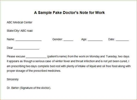 Resume Personal Statement Sample by 12 How To Fake A Doctor S Note For Work Academic Resume