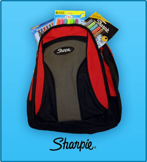 How To Decorate A Backpack With Sharpie by Win A Sharpie Backpack Of Prizes Shoplet