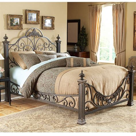 Wrought Iron Flatware by Fashion Bed Group Baroque Metal Bed B11895