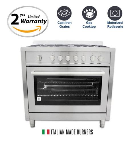 Oven Listrik Cosmos 25 Liter cosmo 36 in gas range with 5 italian made burners oven broiler cos 965agf has minor shipping