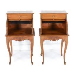 Cool Nightstands Pair Of Unique Cherry Stands With Tambour Fronts C