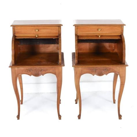unique nightstands pair of unique cherry night stands with tambour fronts c