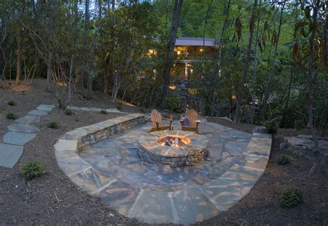 Flagstone Patio With Firepit 33 Patio Ideas Pictures Designing Idea