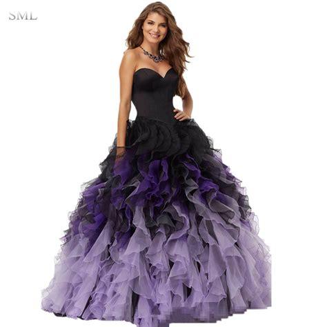 Blue Organza Sml Dress 25238 Sml 2017 Black Purple Gown Prom Dresses Sweetheart