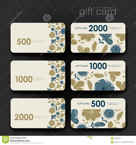 Gift Cards Promo Code - gift coupon discount card template with floral stock vector image 62090846