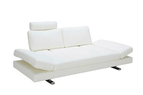 white leather modern couch divani casa chase modern white leather sofa