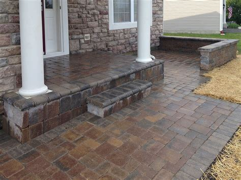 warmth and freshness brick paver patio home ideas collection