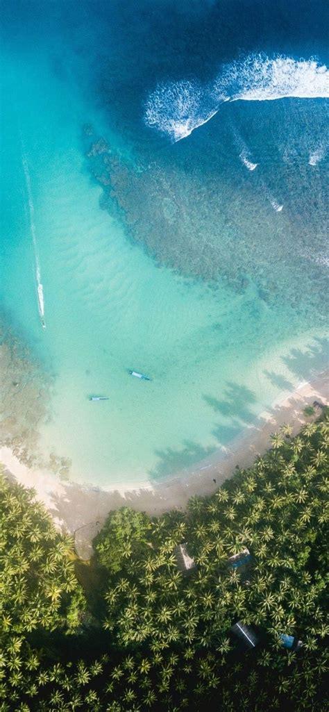 ios  iphone  aqua blue water beach wave ocean
