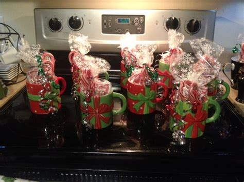 easy cheap  fun gifts  coworkers christmas mugs filled  ho employee christmas