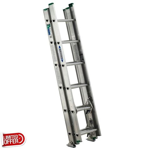 werner aluminium loft ladder 3 section sale werner d1216 3 16 foot aluminum 3 section compact