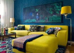 Decorating Ideas Yellow And Blue 20 Charming Blue And Yellow Living Room Design Ideas Rilane