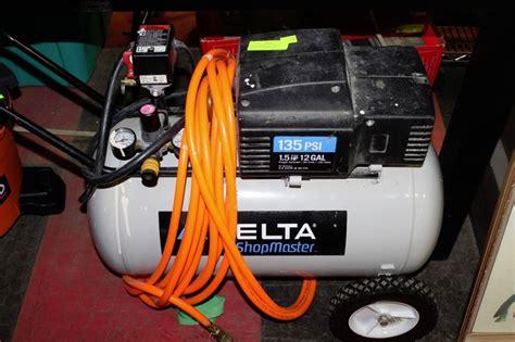 delta shopmaster 1 5hp 12 gallon air compressor