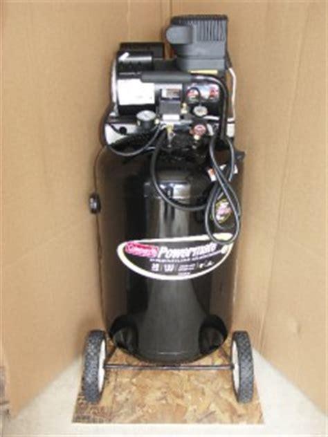 coleman powermate 30 gallon air compressor 155 psi max 7 7 cfm 40 psi