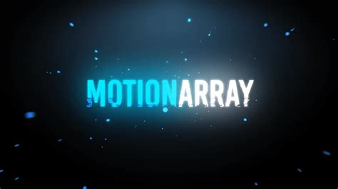 particles logo intro after effects templates motion array