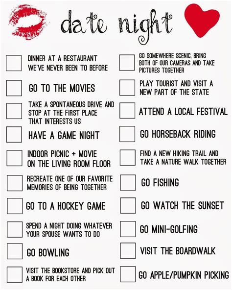 8 Dos On Dates by In A Date Rut My Date Printable For