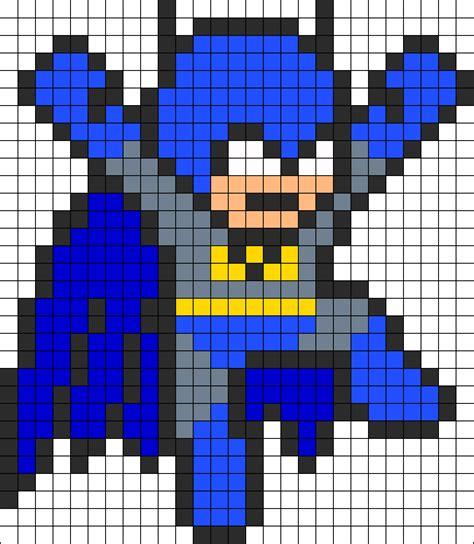 batman jumping perler bead pattern perler bead pattern