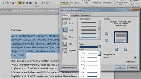 Word Vorlage Mit Rahmen word 2010 absatz oder text mit individuellem rahmen