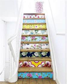 Diy Stair Risers by 20 Diy Wallpapered Stair Risers Ideas To Give Stairs Some