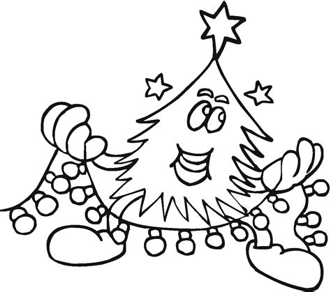 christmas tree coloring pages christmas tree lights