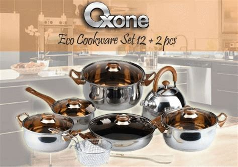 Murah Panci 1 Set Oxone Ox 933 Eco Cookware kado lebaran murah oxone ox933 eco cookware set panci teko