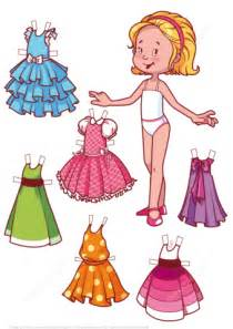 printable paper doll dresses six beautiful dresses for a blonde girl paper doll free