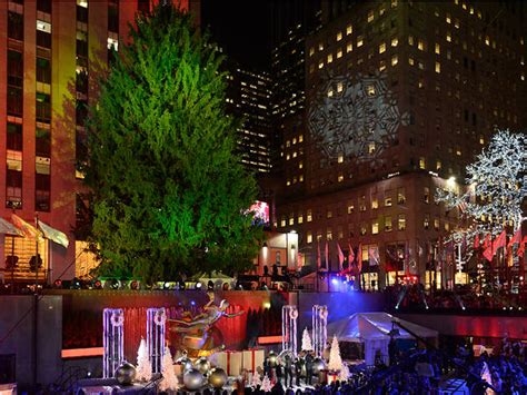 see photos of the rockefeller center christmas tree lighting