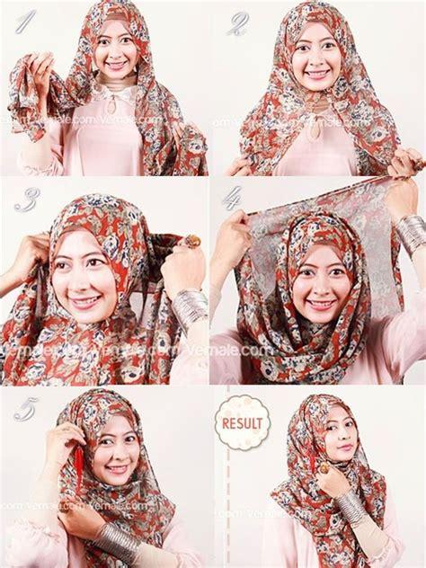 tutorial jilbab pashmina siffon hijabs hijab tutorial and tutorials on pinterest