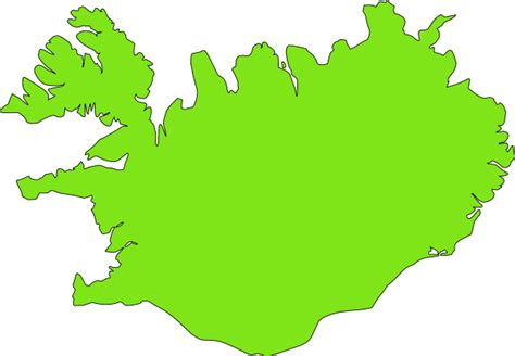 iceland map vector iceland clip at clker vector clip