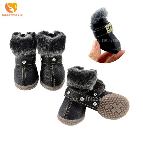 yorkie booties 8 nonslip cat shoes winter pet snow boots warm puppy booties for chihuahua