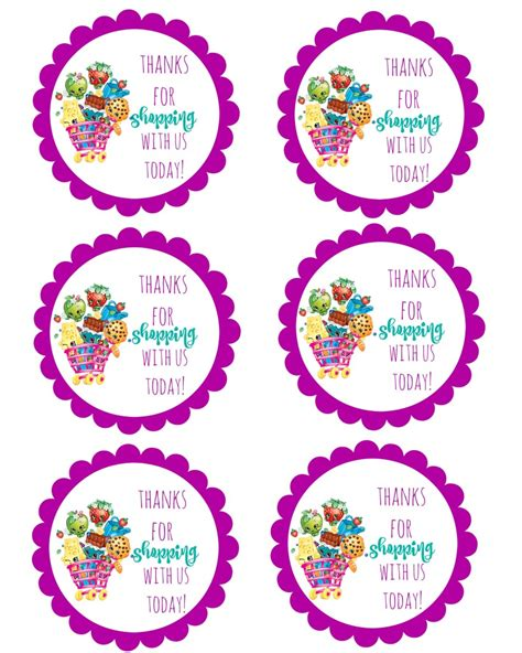 printable birthday decorations shopkins free birthday party printables delicate