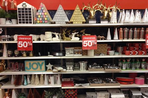 target 50 off after christmas clearance in store decor