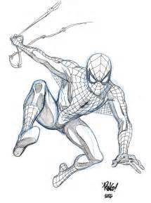 spider man sketch by wieringo on deviantart