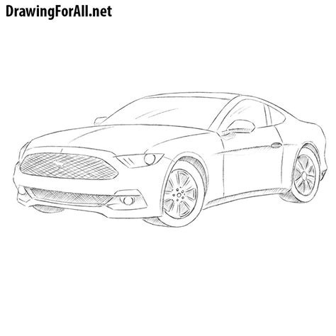 how to draw a dodge challenger drawingforall net drawingforall net drawing tutorials part 33